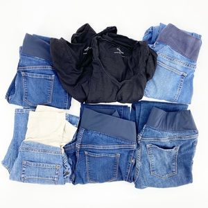 Maternity Bundle of 7 items! Jeans, Tees Small 2/4